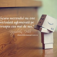 Scara succesului nu este niciodată aglomerată