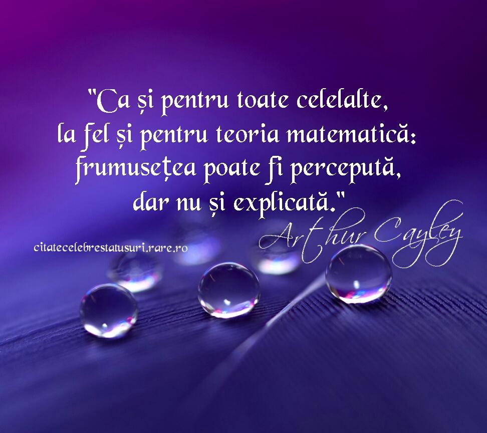 citate celebre despre matematica Ca si pentru toate celelalte, la fel si pentru teoria matematica  citate celebre despre matematica